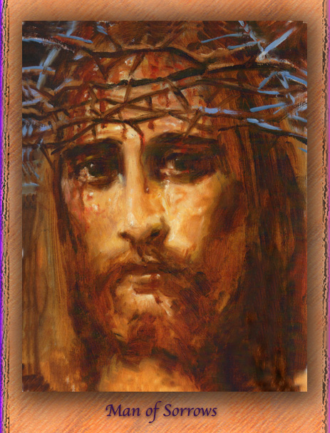 Man of Sorrows, Face of Jesus Crucified